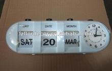 promotional Bullet flip clock with calendar Table Auto Flip Calendar Clock plastic flip table clock