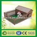 cute plástico compósito de madeira wpc casa animais de estimação