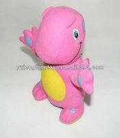 Manufacturer wholesale pink dragon plush coin bank