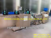 Pp, pe, pvc, eva kunststoff-reißverschluss extrudermaschine