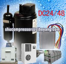 Cooling refrigeration unit for cargo van dc 48v solar power portable cooling freezer unit kompressor