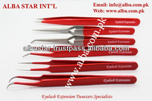 These Eyelash Extension Tweezers have very fine tips for easier eyelash isolation and pick up Eyelash extension tweezers/ Tweeze