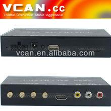 Best ISDB-T Full/One Seg Mini B-cas card for Japan With Four Tuner mini dvb-t digital tv box with FM transimitter ISDB-T7800