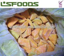 Frozen pumpkin dice/cuts/slice