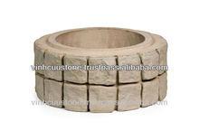 Column Base stone - Vietnam landscape & garden decoration stone