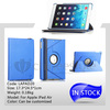 Hot sale top quality PU leather rotating cover for ipad air