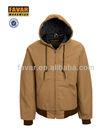 Zipper front breathable warm winter outdoor hoody jacket