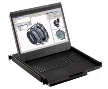 Rose Rack-Mounted 19 Inch KVM Station with Widescreen LCD Monitor