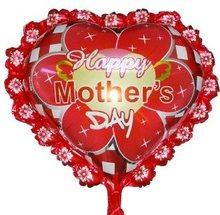 forma di cuore pollici 24 foglio di palloncini per la festa della mamma