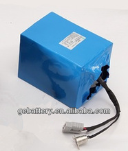 electric cars 36v 10Ah lithium battery pack with PVC package