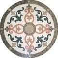 De mármol del azulejo del mosaico, piso medallón de los patrones de flores patrón de mosaico de mármol de piso medallón, mesa de mosaico ks-r3003 patrones