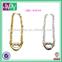Sexy Lip High Quality Plating Necklace For Young Girl
