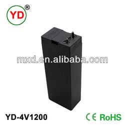 YD-4V1200 solar panel 1.2ah 4v sealed lead acid battery