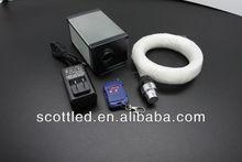 RGB LED Fiber optic,Color can be selected or autorun Fifer optic light engine kit (LLE-003) ;AC12V, 250*0.75mm fiber optic