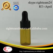 3ml 4ml 5ml amber glass eye dropper bottles for smoke oil