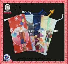 Full logo printing eyeglasses bag/glasses bag/glasses pouch