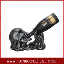 Gunmetal color Skull Wine Holder for home decor