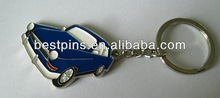 Soft enamel jeep car keyring for collection