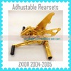 Quality Motorcycle Parts Factory Adjustable Rearsets For KAWASAKI ZX10R 2004-2005