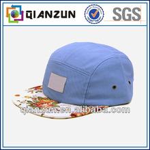 High quality custom new style 5 panel flat brim cap