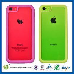 C&T 2014 TPU BUMPER Series PC back Case for Apple iPhone 5C