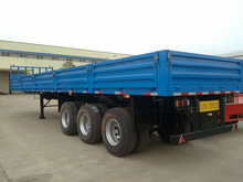 40 ft 3 axle wall side container semi trailer, blue color, 315/80R22.5 tyre