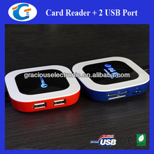 2 Ports Usb Hub with Card Reader