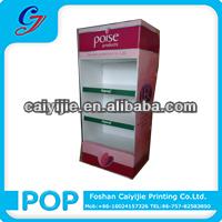 Enviromentally- friendly cardboard stands paper pallet custom cosmetic pop up display cardboard stand
