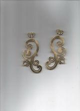 OR0030 BRASS gr.14,20 - Brass flower dangle pendant big geometric circle earrings - custom galvanic colors - MADE IN ITALY