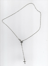 RLG0005 lenght cm 45,5 gr.4,20 silver beaded rosary necklace MADE IN ITALY