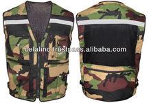 Hi Vis Motorcycle Camouflage Safety Vest