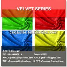 ocean 330gsm cotton viscose rayon flashing slub emboss bronze velvet fabric