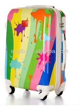 2014 colorful printed designer travel trolley luggage