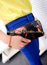 Hot Sale Women's Floral Print leather Wallet Purse Clutch Bag Handbag