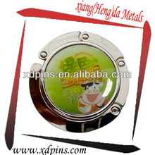 cartoon image bag hanger with printed patch zinc alloy process