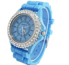 Pomotion word cup 2014 silicone custom geneva lady watch led watch