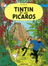 TINTIN Tintin et les Picaros- Tintin and the Picaros. Great Lacquer wall picture