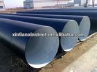 black powder coated galvanized steel pipe