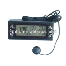 2014 LCD Screen Digital Car Clock Thermometer