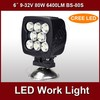 hotsale 9-32v 6 inch 80w 12v led work light BS-80S