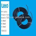 Solar cable eléctrico con el certificado tuv en tamaño 2.5/4/6mm2( 10/12/14awg)