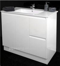 MDF bathroom double-door double-drawer cabinet vanity unit
