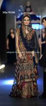 Bridal dress With Lehnga Neavy Blue and Red with Golden Work
