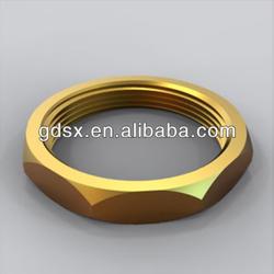 China Dongguan manufacturer precision decorative brass hexagonal nut m16