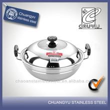 capsule bottom ceramic wok pan