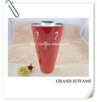 homeware metal color tall christmas cane flower pot