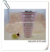 homeware metal color tall christmas cane pot