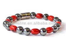 Corallo/nero ad alta potenza magnetico braccialetto medico