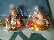 Shringar Laxmi Ganesh Clay Murti ( Terracota )
