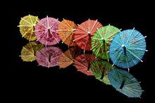 Parasol cocktail skewer